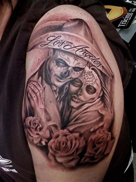 day of the dead couple tattoo day of the dead images designs
