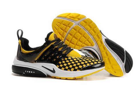 nike air presto black yellow shoes nike running shoes