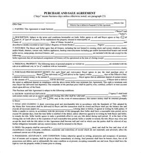 basic purchase agreement template sle purchase and sale agreement 11 documents in word
