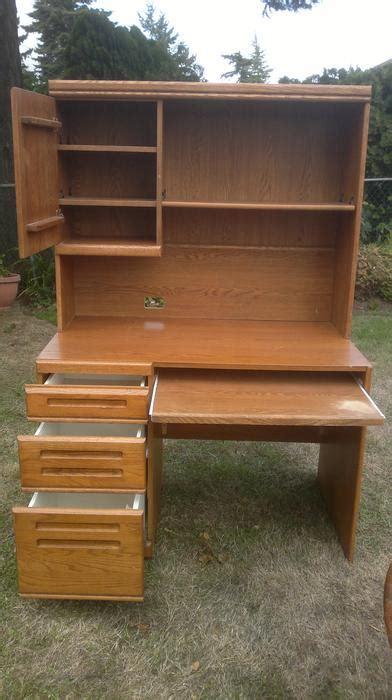 landon desk with hutch oak oak computer desk with hutch saanich