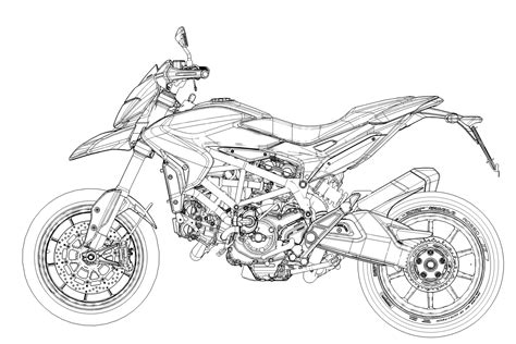 cool cad drawings ducati hypermotard cad drawing vehicles pinterest