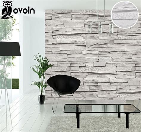 brick wallpaper grey living room background modern vintage gray faux brick wallpaper retro