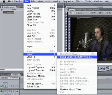 final cut pro quicktime conversion how to convert final cut pro projects for youtube or vimeo