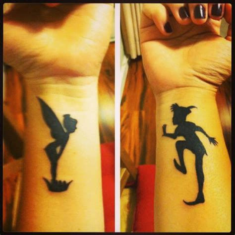 peter pan tinkerbell tattoo on wrist