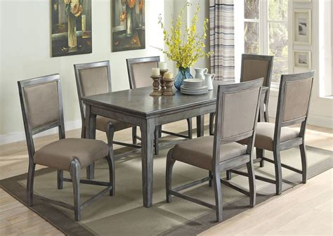 gray dining table set filippo rustic grey dining table set