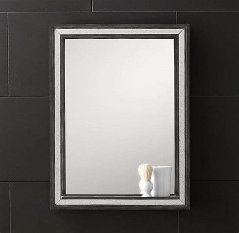 Bathroom Mirrors Restoration Hardware Strand Mirror With Tray I Restoration Hardware