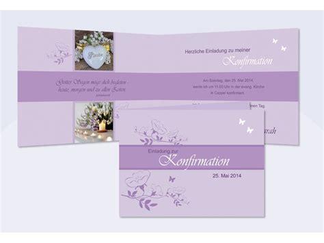 Einladung Hochzeit Flieder by Einladung Kommunion Konfirmation Einladungskarte