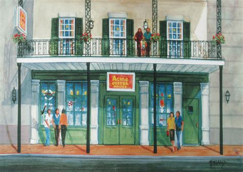 acme oyster house new orleans original new orleans watercolors giclee prints