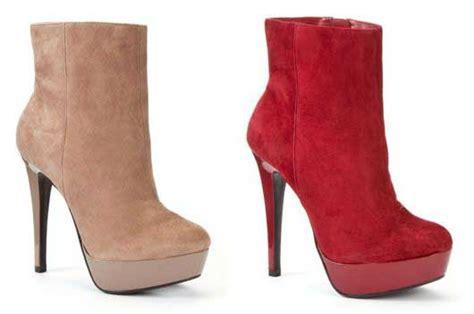 platform heel suede boots from new look gt shoeperwoman