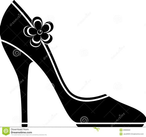 Heels Black Classico high heel shoes silhouette stock photography image