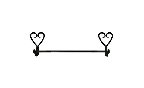 wrought iron bathroom towel bars wrought iron small towel rack bar heart bathroom kitchen