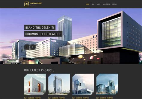 templates for architecture website modern architecture free responsive website template