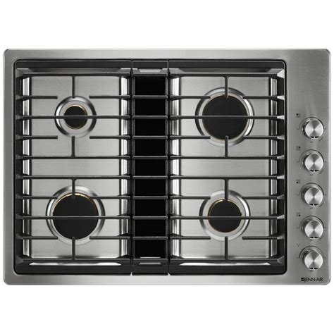 downdraft ventilation for cooktops jgd3430gs jenn air 30 quot downdraft gas cooktop stainless