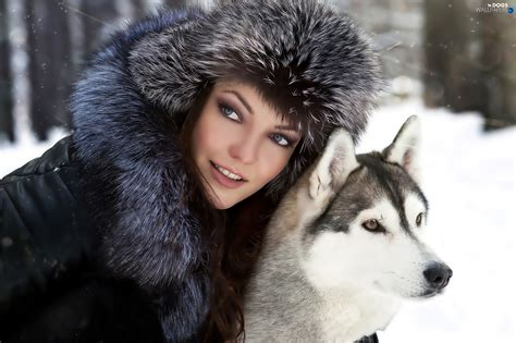 females with dogs siberian husky hat dogs wallpapers 2048x1365