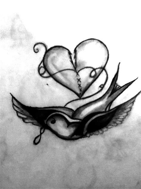 bird fixing  broken heart