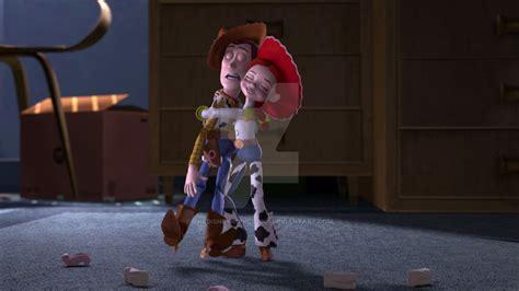 toy story jessie woody hug thedisneyaddict2001 deviantart
