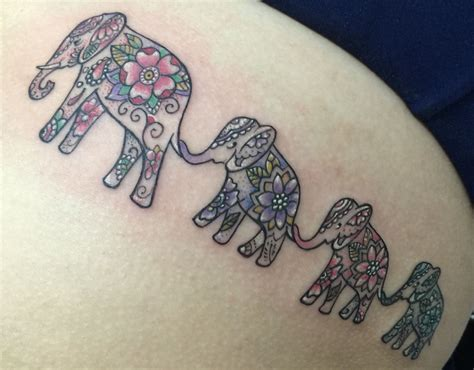 small family tattoo ideas elephant family southinkpr tattos by collazo