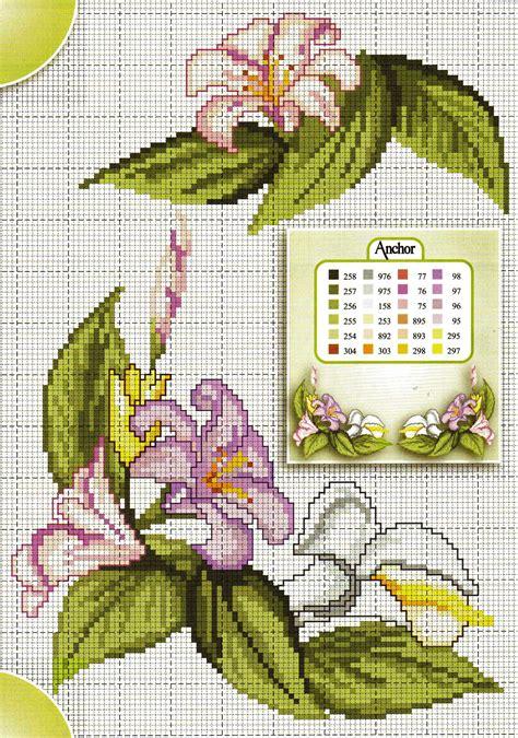 schemi punto croce gratis fiori fiori calle gigli magiedifilo it punto croce uncinetto