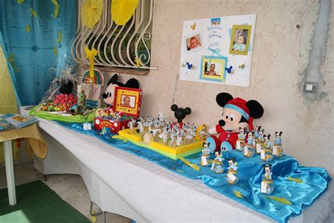 Decoration Bapteme Mickey cr 233 e ma d 233 co bapt 234 me th 232 me mickey