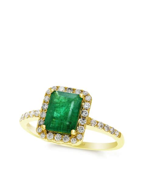 effy box gallery 14k yellow gold emerald ring in green