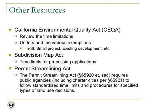 subdivision map act california general plan zoning and entitlements