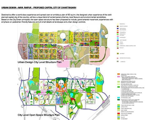 layout plan of naya raipur india a new age town
