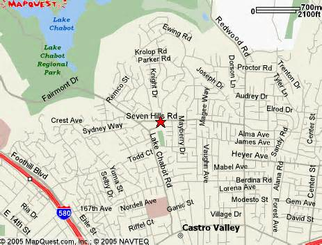 castro valley california map map driving directions to chanticleers theatre castro