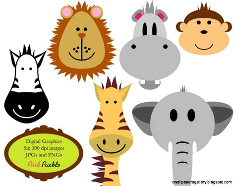 Baby Animal Clipart Baby Shower by Baby Animal Faces Clipart Baby Shower Clipground