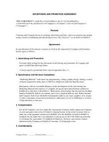 Co Promotion Agreement Template by Promotion Agreement Template Promotion Agreement