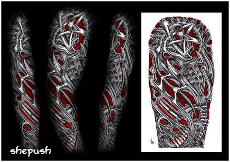 biomechanical tribal tattoos bio mech tatoos on biomechanical