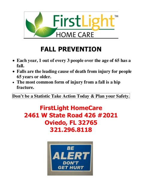 firstlight homecare fall prevention