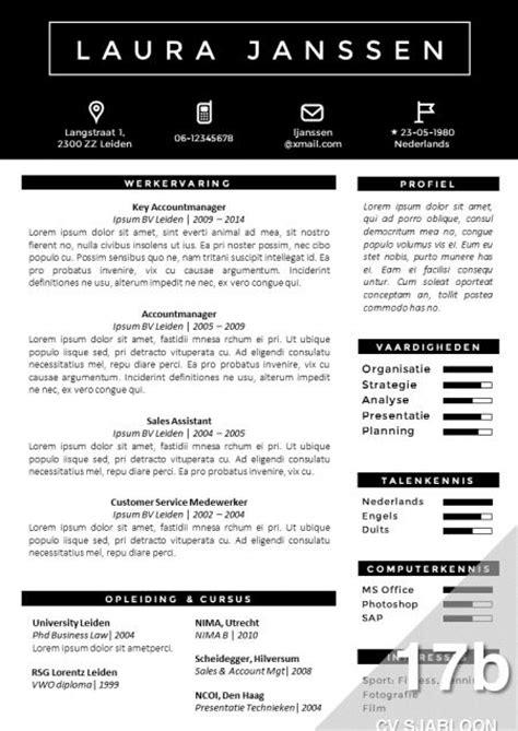 Cv Sjabloon Creatief Creatief Cv Sjabloon Met Brief Sjabloon Zwart Wit Eenvoudig Zelf Te Bewerken In Ms Office Http