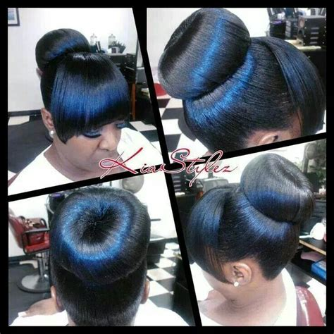 cute african american buns with bangs 32 best ponytails with bangs images on pinterest