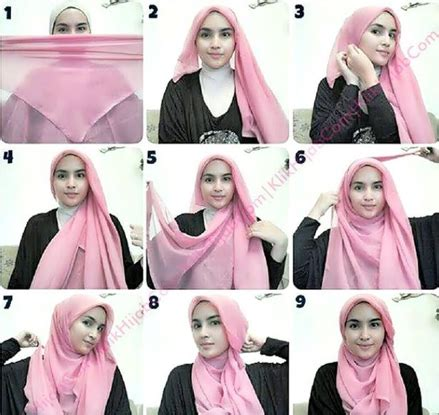 tutorial fashion hijab simple segi empat tutorial hijab segi empat paris simple dan modis terbaru