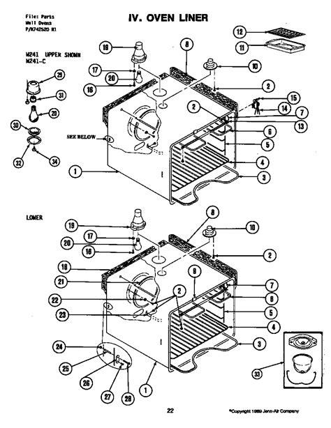 jenn air parts diagram jenn air appliance parts diagram jenn free engine image