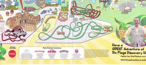six flags vallejo map six flags discovery kingdom park map index of parks