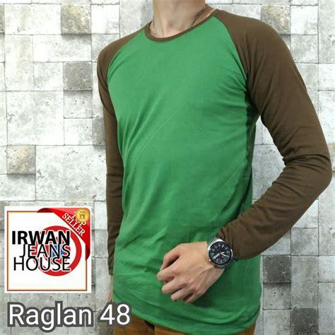 Baju Kaos Polos Raglan Lengan Panjang 17 kaos raglan pria baju cowok polos lengan panjang pendek kombinasi cotton elevenia