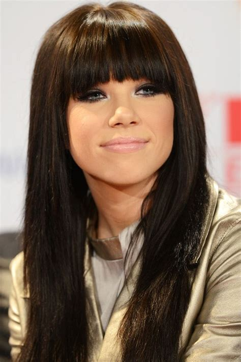 blunt cur with feathered bangs haircut 120 best images about carly rae jepsen on pinterest