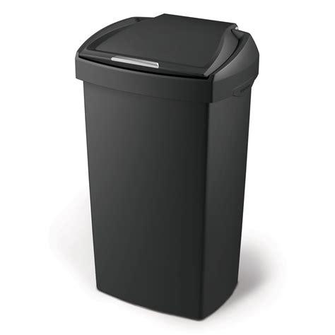 poubelle de cuisine 224 pression en plastique noir 60 litres