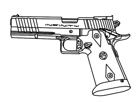 Coloring Page Gun by Gun Coloring Pages Coloringsuite