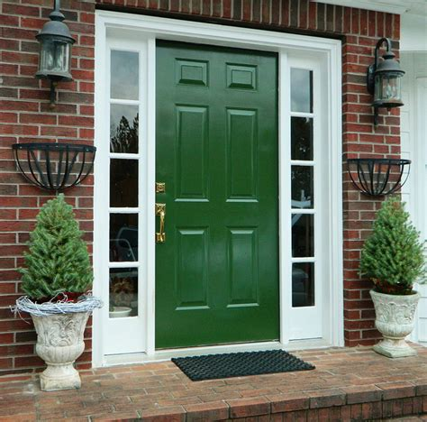 green house door color green front door for orange brick house ask home design