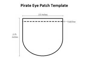 patch template pirate eye patch template