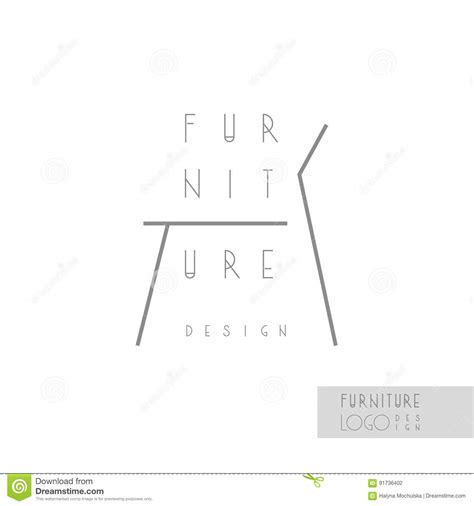 business card template with cut lines word interior designer brand identity chair line logo