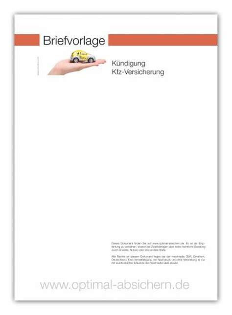 Musterbrief Kündigung Der Kfz Versicherung Kostenlose Vorlage F 252 R Die K 252 Ndigung Einer Kfz Versicherung