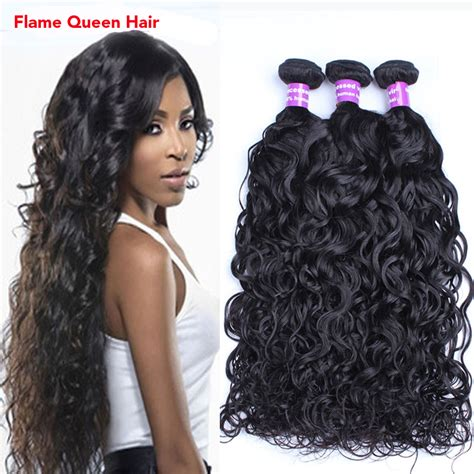 wet and wavy human hair weave hairstyles brazilian virgin hair wet wave natural black human hair