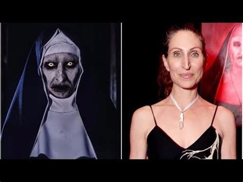 the nun cast valak actress as actors of famous horror films look without makeup youtube