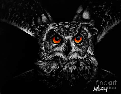 Eagle Decor Owl Painting By Tylir Wisdom
