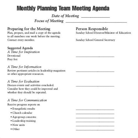 monthly meeting minutes template 41 agenda templates sle templates