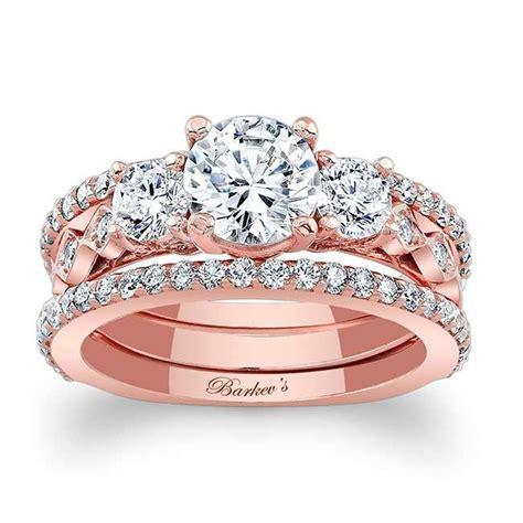 barkev s rose gold bridal set 7973s2p barkev s