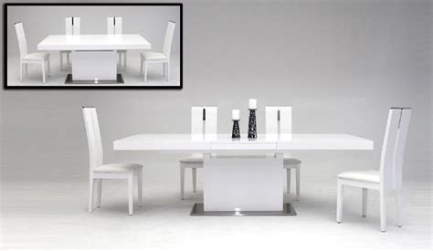 Modrest Zenith Modern White Extendable Dining Table Modern White Dining Table